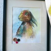 Rabbit watercolour