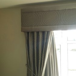 grey pelmet curtains