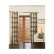 Crystal Mink Interlined Eyelet Curtain
