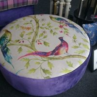 large peacock ottoman - custom-made furniture