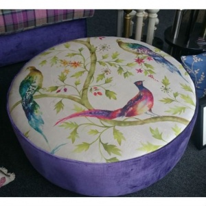 large peacock ottoman from Interior Fashions
