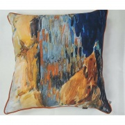 sahara blue cushion from Interior Fashions