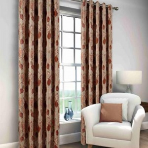 Windsor Red Eyelet Curtain