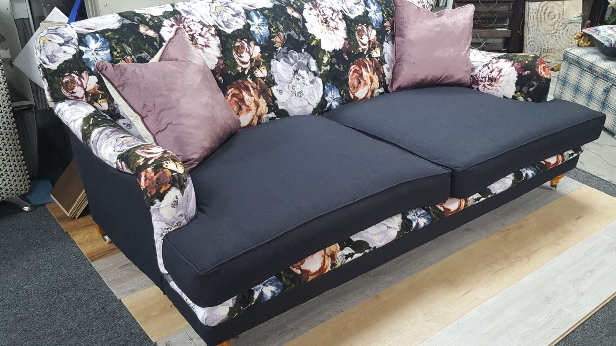 Foral sofa make-over