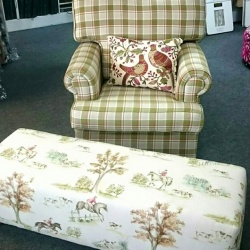 Custom chair & ottoman