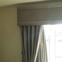 grey pelmet curtains