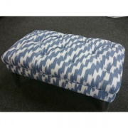 blue buttoned pouffe from Interior Fashions, Roscrea