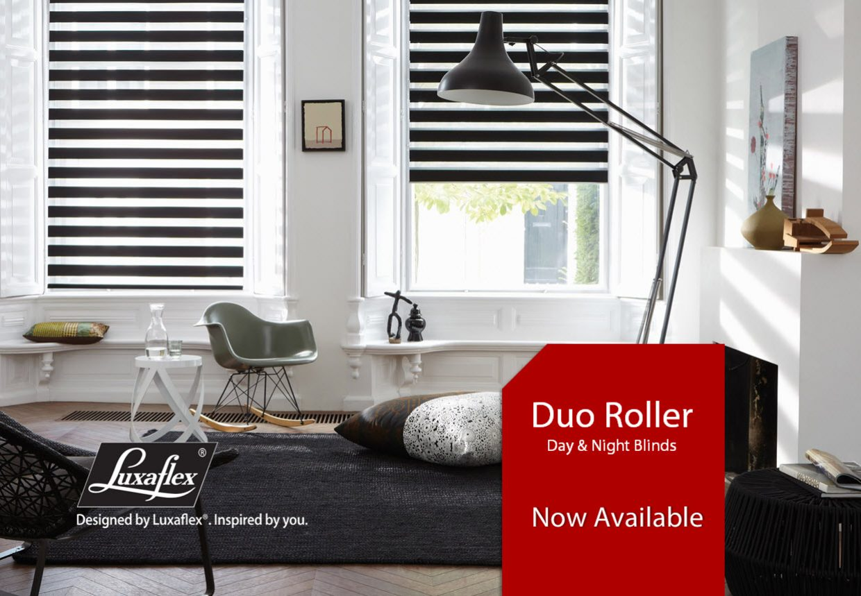 Blinds, custom roman blinds, Duo blinds and more