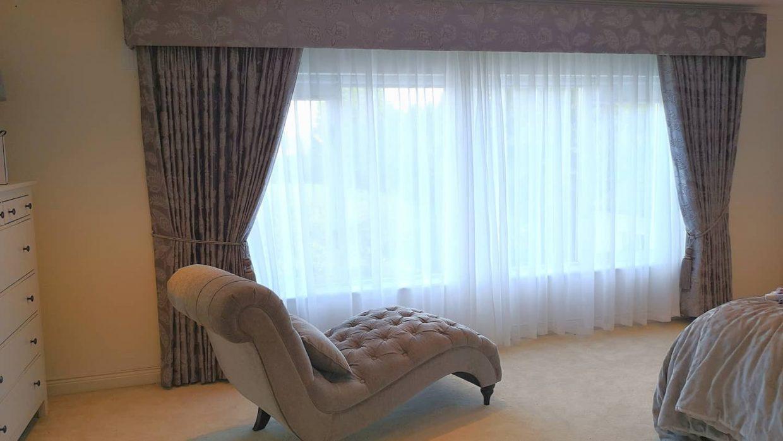 Large upholstered pelmet