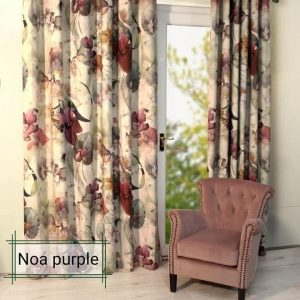 Noa purple readymade curtain